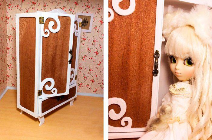 шкаф для куклы из фанеры