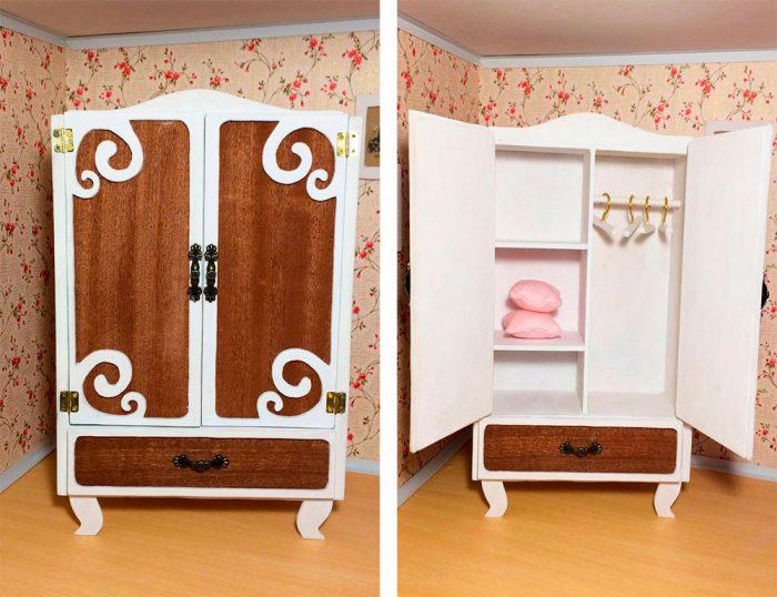 Кукольный шкаф поэтапно