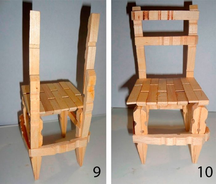 стул из прищепок пошаговый мастер-класс