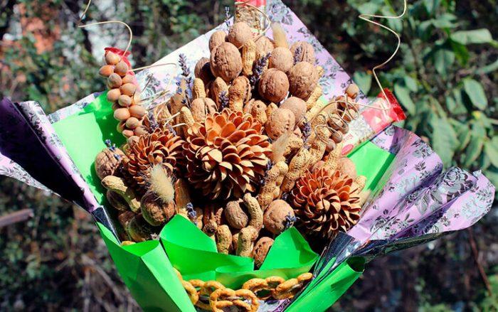 Ореховый букет пошагово