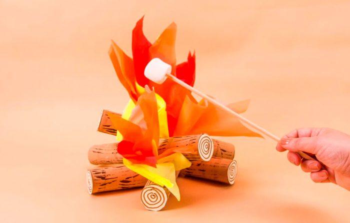 Огонь из бумаги