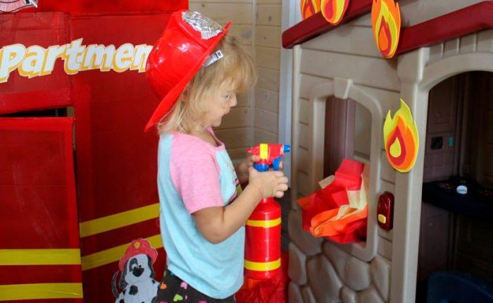 Огнетушитель из пластикового распылителя