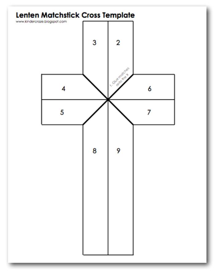 шаблон креста