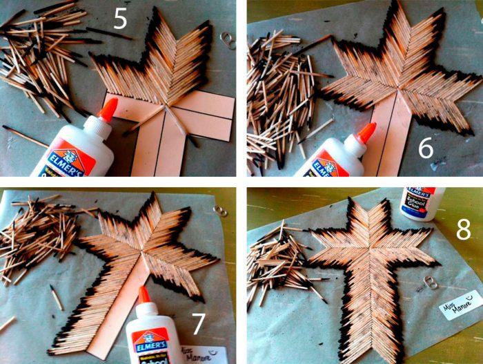 Крест из спичек пошаговый мастер-класс