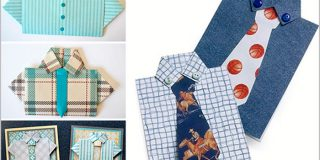 Открытка «рубашка с галстуком»