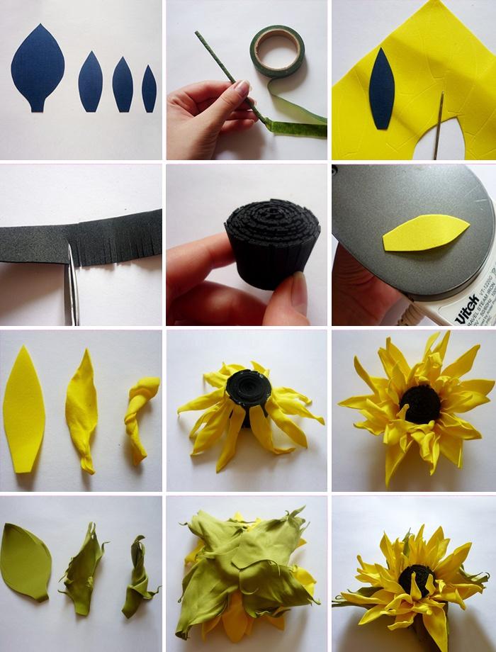 Изготовление цветов из фоамирана своими руками 56