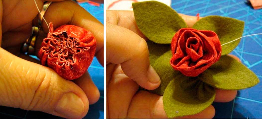 Розы из ткани свои руки 127