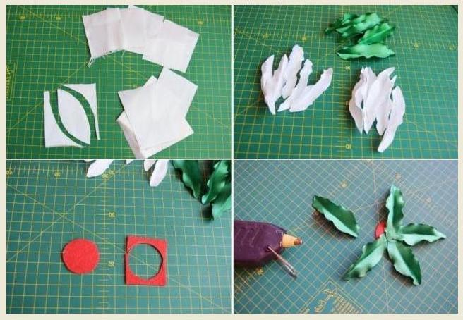 Выкройка листов и лепестков