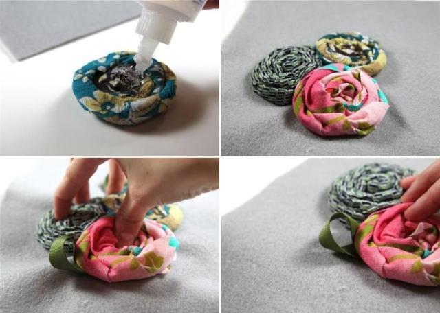 Фото цветы из ткани мастер класс