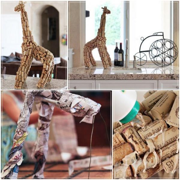 жираф из пробок