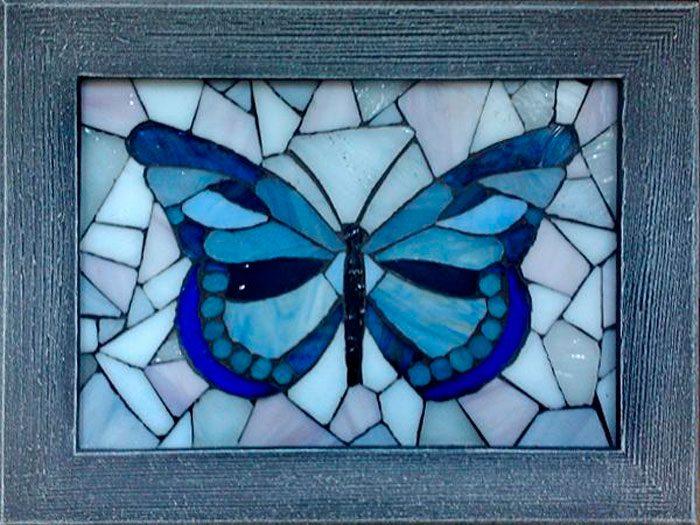 Мозаика на стекла своими руками