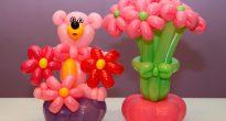 цветы и мишка из шариков