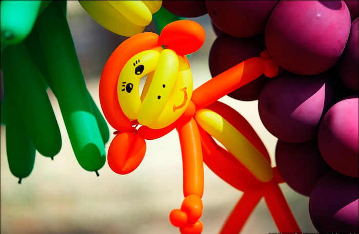 обезьяна из шаров