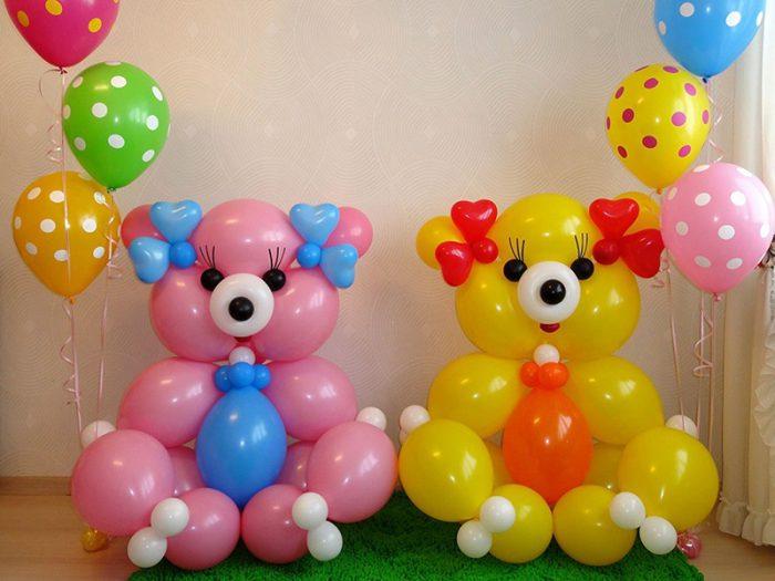 мишки из шариков
