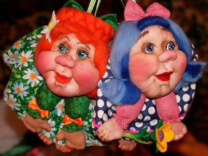 самодельные куклы из капроновых колгот