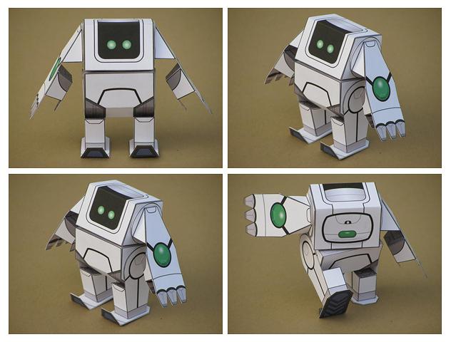 Сделать робота бумаги своими руками