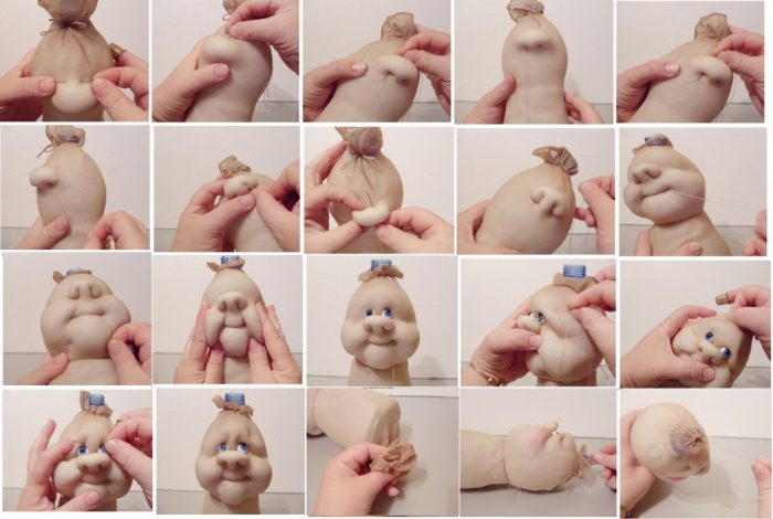 кукла из колгот и бутылки