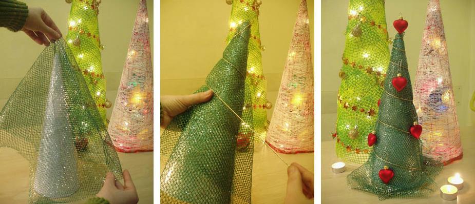 елочки своими руками на новый год из салфеток
