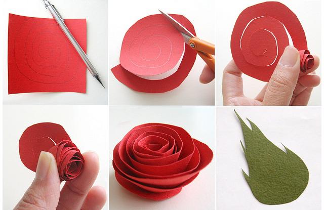 Подарок розы из бумаги своими руками
