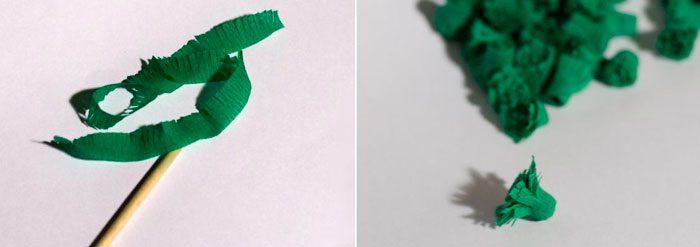 corrugated paper tree