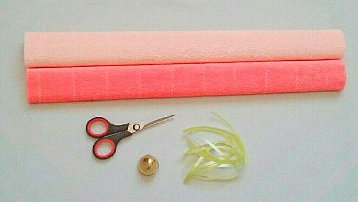 букет из конфет и гофрированной бумаги материалы
