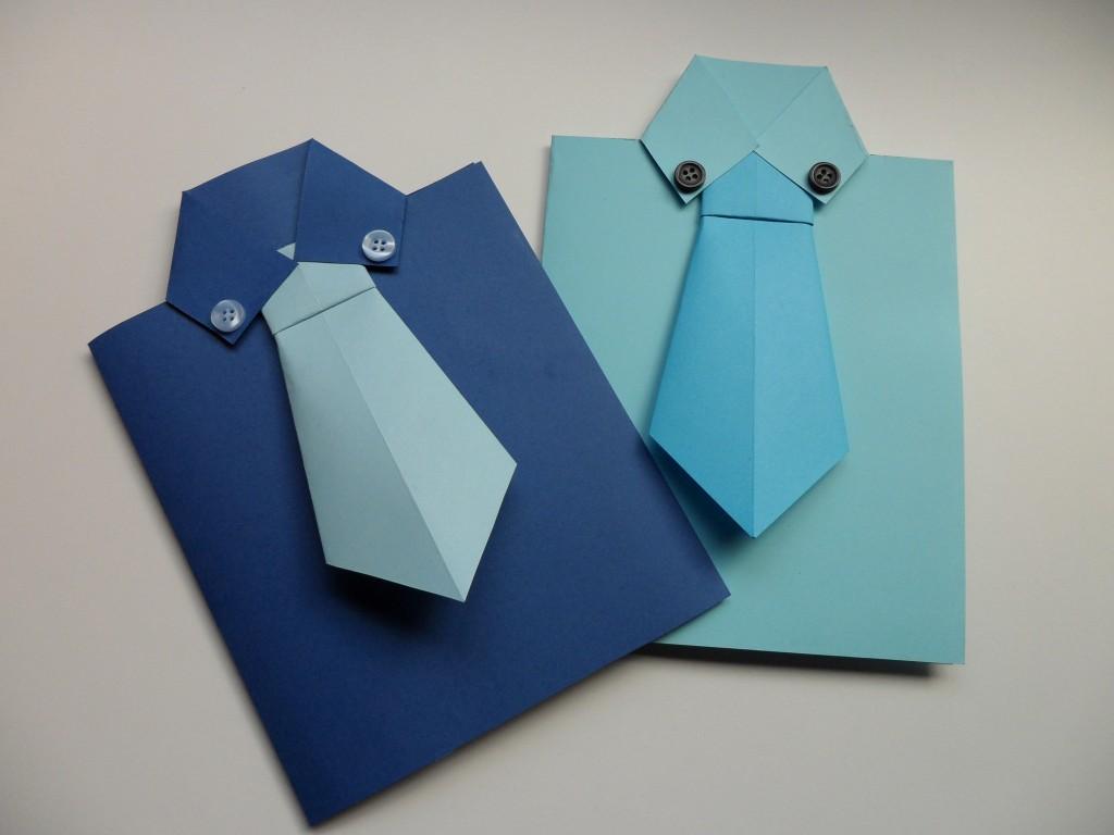 Открытки в виде рубашек с галстуками своими руками 829