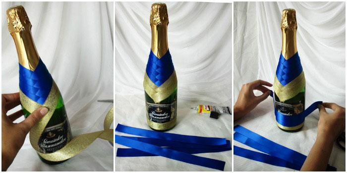 Мастер класс по украшению шампанского своими руками