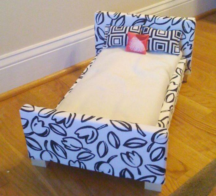 Как сделать кроватку своими руками барби 440