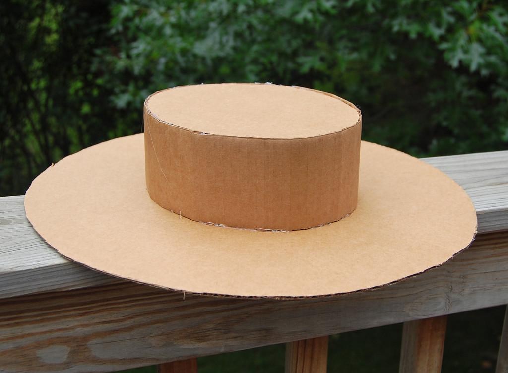 Шляпа из бумаги для поделок