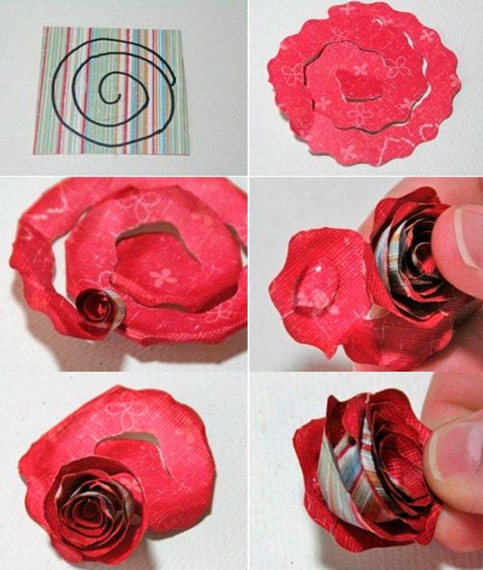 Объемные цветы для открыток своими руками