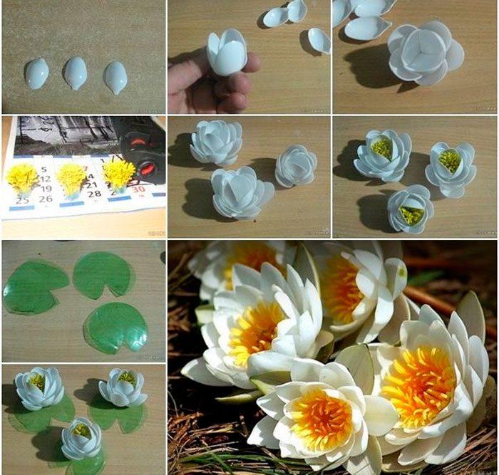 Как сделать лилию из пластиковой бутылки
