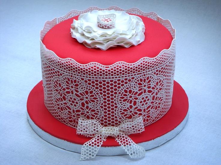 Кружево на торт в домашних условиях 118
