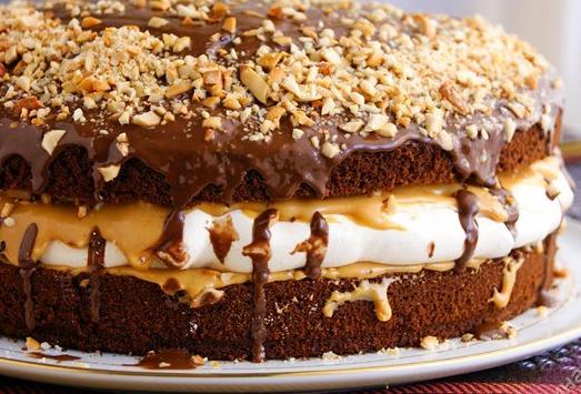 Рецепт торта сникерс с фото