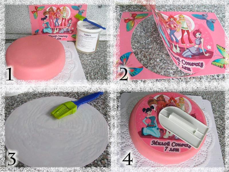 Как сделать картинку из бумаги на торт