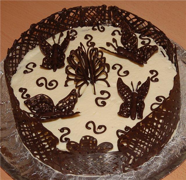 Торт с рисунком своими руками 19