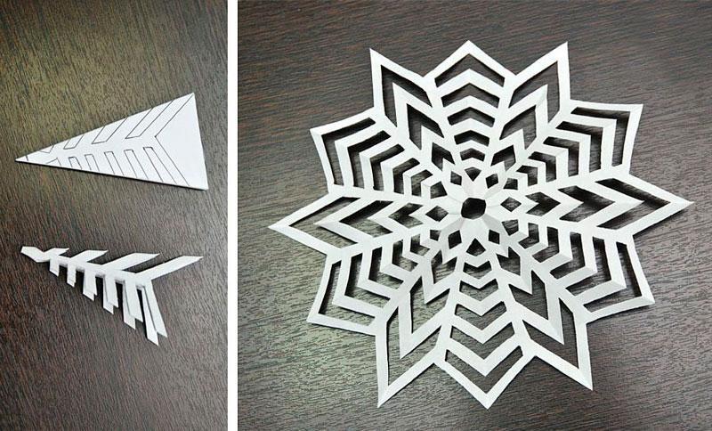 Как сделать красивые снежинки из бумаги своими руками 6