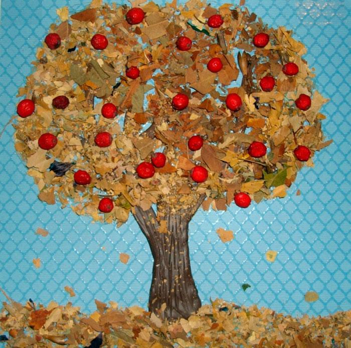 Поделка дерево осень руками пошагово 22